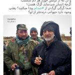 حضور سردار سلیمانی در محل دفن صدام
